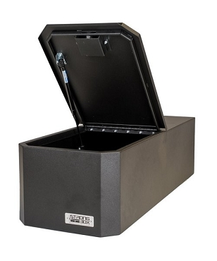 Boss Strongbox Large Hinged Flip Top Lockbox With High Security Medeco Lock -7126-7530