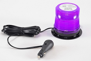 North American Signal Compact LED Purple Magnetic Mount Beacon For Funeral Escort-LEDQ375MX-V