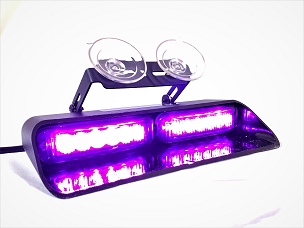 Signal Vehicle Products Purple 12 Diode Double Wide Dash And Deck Light - USA  Made  -SRUS-12XDASH