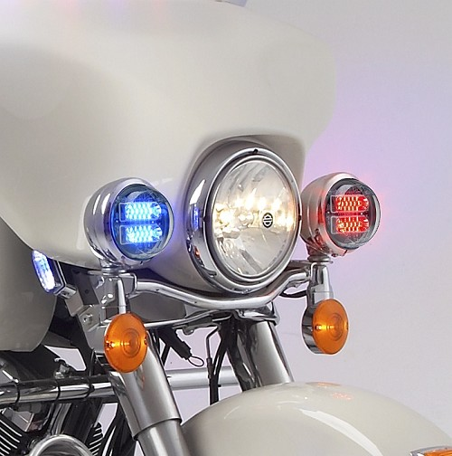 Whelen Pair Of Motorcycle Fairing Led'S With White Driving Override-P32F2