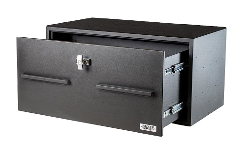 Boss Strongbox Tall High Security Lock Box With Medeco Triple Lock And Dual Slides-7126-7421CRS