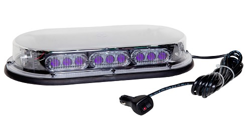 North American Signal Low Profile Extended Size LED Purple 17' Mini Bar With Magnets -MMBLEDLPMR3-C-PP